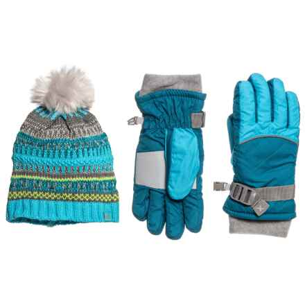 ZeroXposur Morrilyn Knit Winter Set - Insulated, 2-Piece (For Big Girls) in Teal Gem - Closeouts