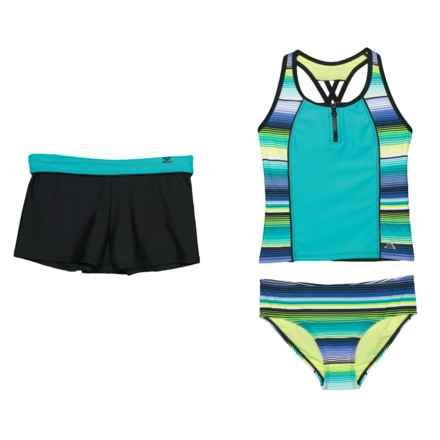 5aeb531194c ZeroXposur Navajo Sunrise Tankini Set and Shorts - Racerback (For Big Girls)  in Tahiti