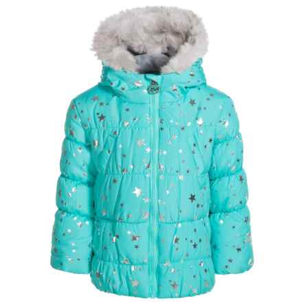 ZeroXposur Printed Parka - Insulated (For Little Girls) in Misty - Closeouts