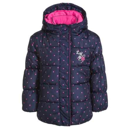 ZeroXposur Printed Parka - Insulated (For Little Girls) in Navy - Closeouts