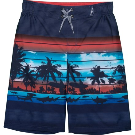 5bd04187f0 ZeroXposur Rip Current Stripes Swim Trunks with Goggles - UPF 50+, Built-In