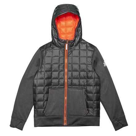 ZeroXposur Snug Hybrid Jacket - Insulated (For Big Boys) in Slate/Hazard - Closeouts