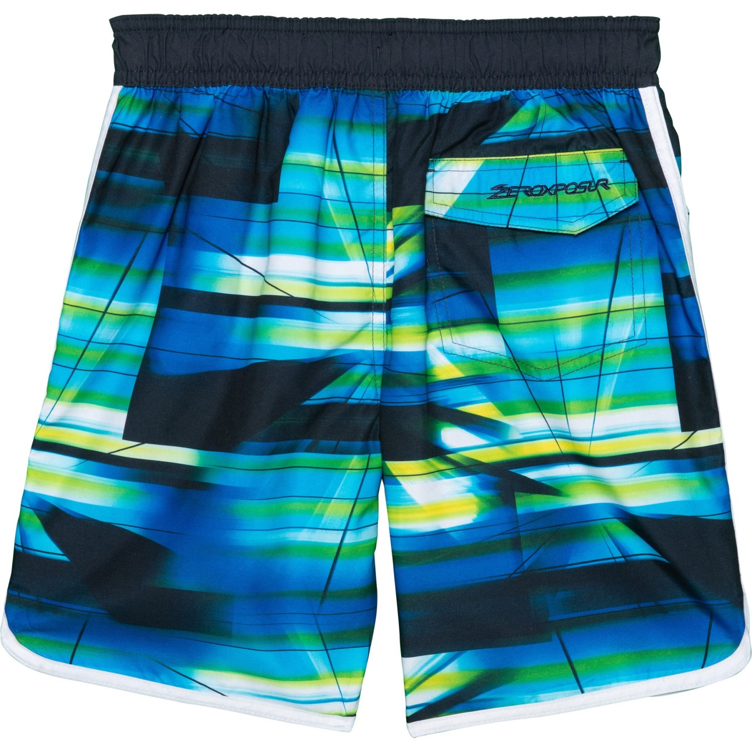ZeroXposur Spectrum Print Swim Trunks with Goggles (For Little Boys