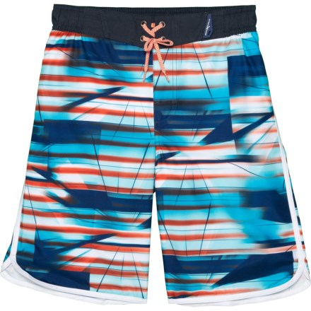 95aa4377caa91 ZeroXposur Spectrum Print Swim Trunks with Goggles - UPF 50+, Built-In  Briefs