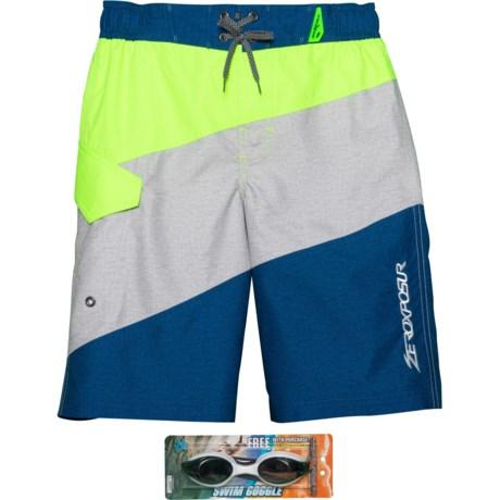 6fcc6c15ee ZeroXposur Summerfest Swim Trunks - UPF 50+, Goggles, Built-In Brief (