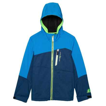 ZeroXposur Warrior Soft Shell Jacket (For Big Boys) in Dark Navy Heather - Closeouts