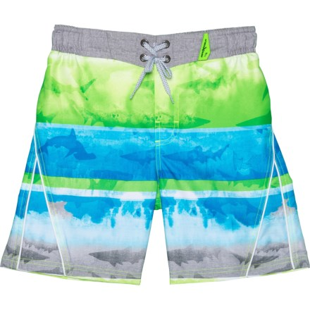 d53793f311 ZeroXposur Washed Ashore Print Swim Trunks with Goggles - Built-In Brief,  UPF 50