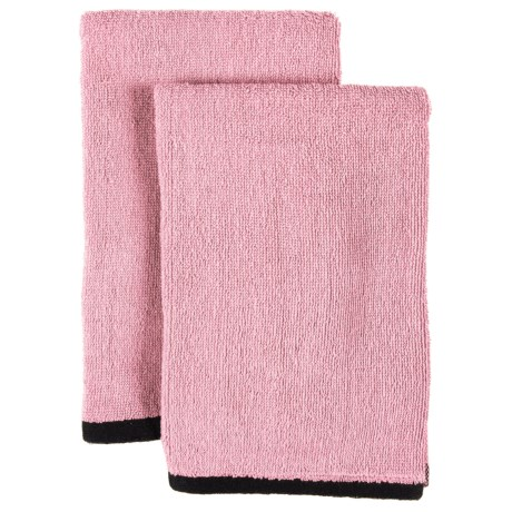 """ZicZac Hand Towels - 2 Pack, 20x20"""" in Old Pink"""