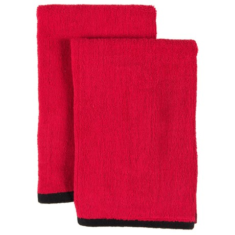 "ZicZac Hand Towels - 2 Pack, 20x20"" in Red"