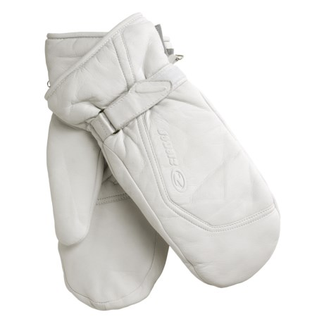 Ziener Kirsten PrimaLoft® Mittens - Leather, Insulated (For Women) in White