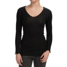 Zimmerli Audrey's Day Wool-Silk Shirt - Long Sleeve (For Women) in Black - Closeouts