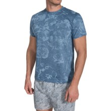 Zimmerli Cotton Crew Neck Shirt - Short Sleeve (For Men) in Blue - Closeouts
