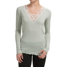 Zimmerli Gwyneth's Day Lace Shirt - Long Sleeve (For Women) in Arctic Ice - Closeouts