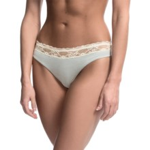 Zimmerli Lace Thong Panties (For Women) in Arctic Ice - Closeouts