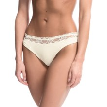 Zimmerli Lace Thong Panties (For Women) in Vanilla - Closeouts
