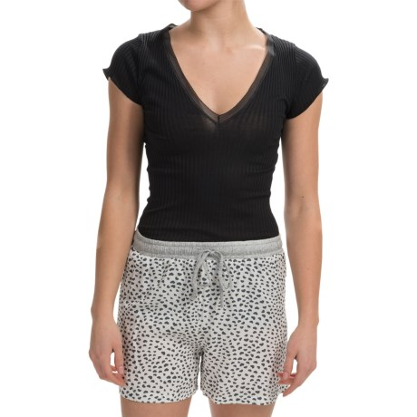 Zimmerli Madison Cotton V Neck Shirt Short Sleeve For Women