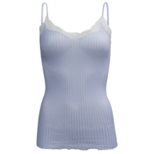 Zimmerli Maude Prive Cotton Tank Top - Spaghetti Strap (For Women) in Blue Ice - Closeouts