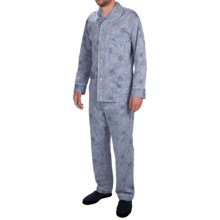 Zimmerli of Switzerland Cotton Jacquard Pajamas - Long Sleeve (For Men) in Dark Blue - Closeouts