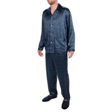 Zimmerli of Switzerland Paisley Print Silk Pajamas - Long Sleeve (For Men) in Paisley Blue - Closeouts