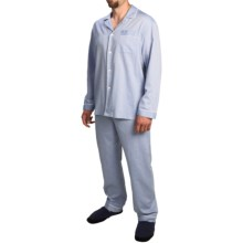 Zimmerli of Switzerland Printed Pajamas - Long Sleeve (For Men) in Blue/Grey - Closeouts