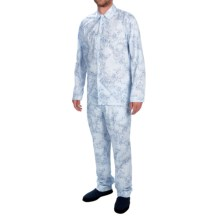Zimmerli of Switzerland Printed Pajamas - Long Sleeve (For Men) in Sky Blue - Closeouts