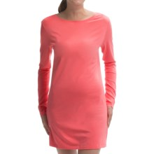 Zimmerli of Switzerland Pureness Modal Tunic Shirt - Long Sleeve (For Women) in Coral - Closeouts