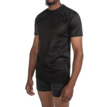 Zimmerli of Switzerland Royal Classic T-Shirt - Short Sleeve (For Men) in Black - Closeouts