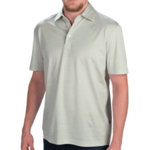 Zimmerli of Switzerland Silk-Cotton Polo Shirt - Short Sleeve (For Men) in Light Green - Closeouts