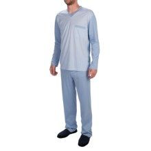Zimmerli of Switzerland Single Pocket Pajamas - Long Sleeve (For Men) in Sky Blue - Closeouts