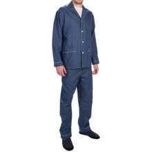 Zimmerli of Switzerland Two-Pocket Jacquard Pajamas - Long Sleeve (For Men) in Dark Blue - Closeouts