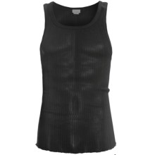 Zimmerli Richelieu Tank Top - Ribbed Cotton (For Men) in Black - Closeouts