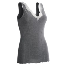 Zimmerli Stretch Micromodal® Tank Top - Lace Trim (For Women) in Greystone - Closeouts