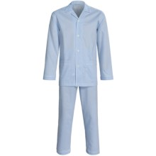 Zimmerli Ultrafine Cotton Pajamas - Long Sleeve (For Men) in Light Blue - Closeouts