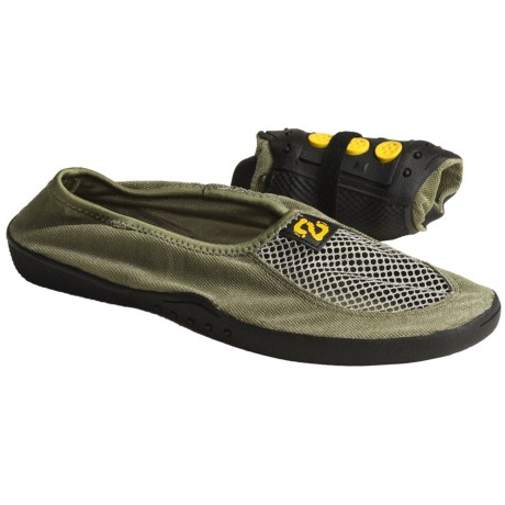 Zinetic Pocket Slippers (For Men and Women) in Olive