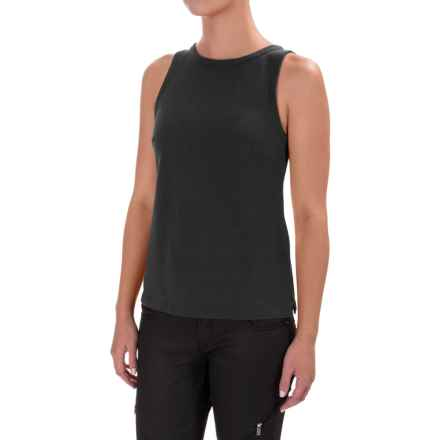 Zip Back Tank Top (For Women) in Black - 2nds