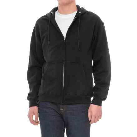 Zip Fleece Hoodie (For Men) in Black - Closeouts