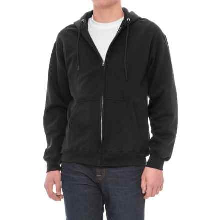 Zip Fleece Hoodie (For Men) in Black - Closeouts