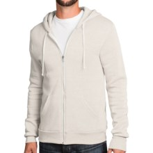 Zip-Front Solid Hoodie (For Men and Women) in Off White - 2nds
