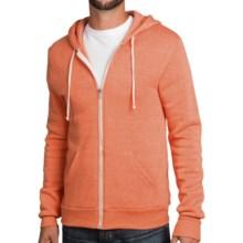 Zip-Front Solid Hoodie (For Men and Women) in Orange - 2nds