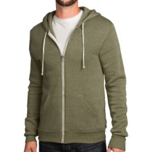 Zip-Front Solid Hoodie (For Men and Women) in Sage - 2nds