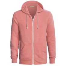 Zip Hoodie - Cotton Blend (For Men) in Red - Closeouts