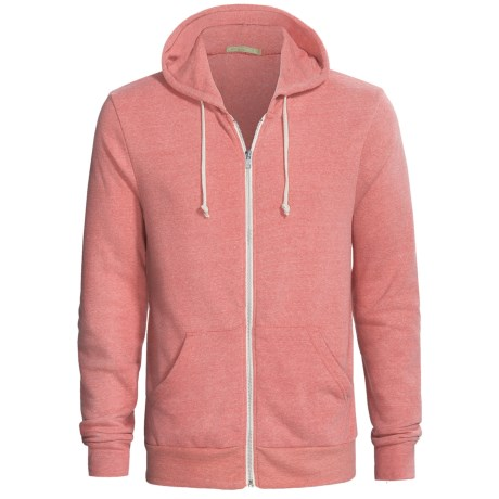 Zip Hoodie - Cotton Blend (For Men) in Red