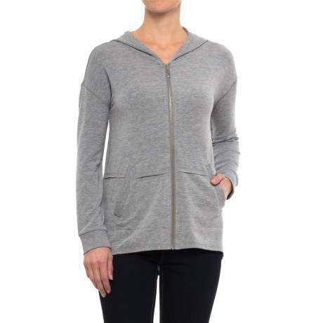 Zip Hoodie Shirt - Long Sleeve (For Women)