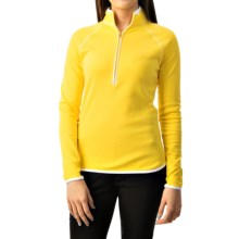 Zip Neck Sport Shirt - Long Sleeve (For Women) in Lemon - 2nds
