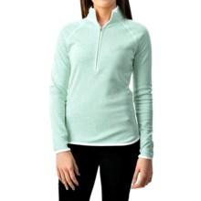 Zip Neck Sport Shirt - Long Sleeve (For Women) in Light Green - 2nds