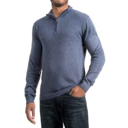 Zip Neck Sweater (For Men) in Blue - 2nds