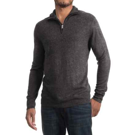Zip Neck Sweater (For Men) in Dark Grey - 2nds