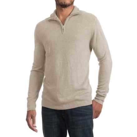Zip Neck Sweater (For Men) in Khaki - 2nds