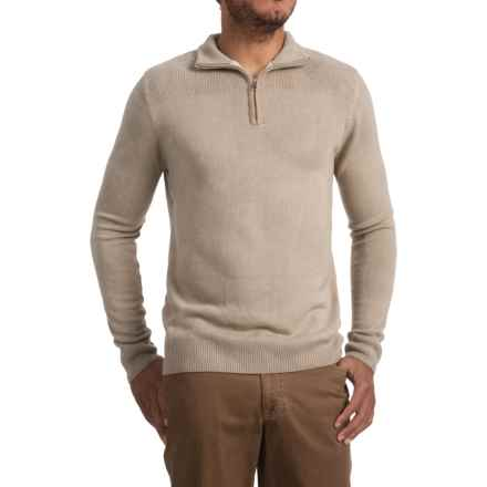 Zip Neck Sweater (For Men) in Sand - 2nds