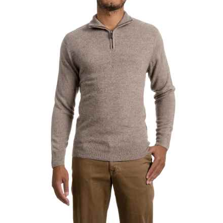Zip Neck Sweater (For Men) in Taupe - 2nds